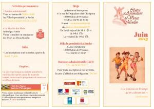 Programme Juin page 1